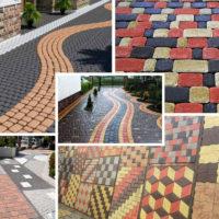 Разновидность тротуарной плитки в зависимости от материала изготовления